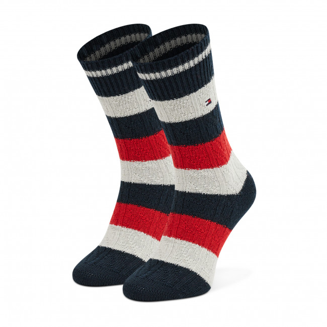 Men's High Socks TOMMY HILFIGER - 701210551 Navy Red 002