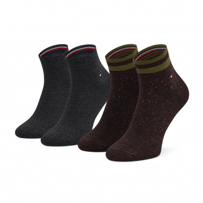 2 Pairs of Men's High Socks TOMMY HILFIGER - 701210554 Olive 003
