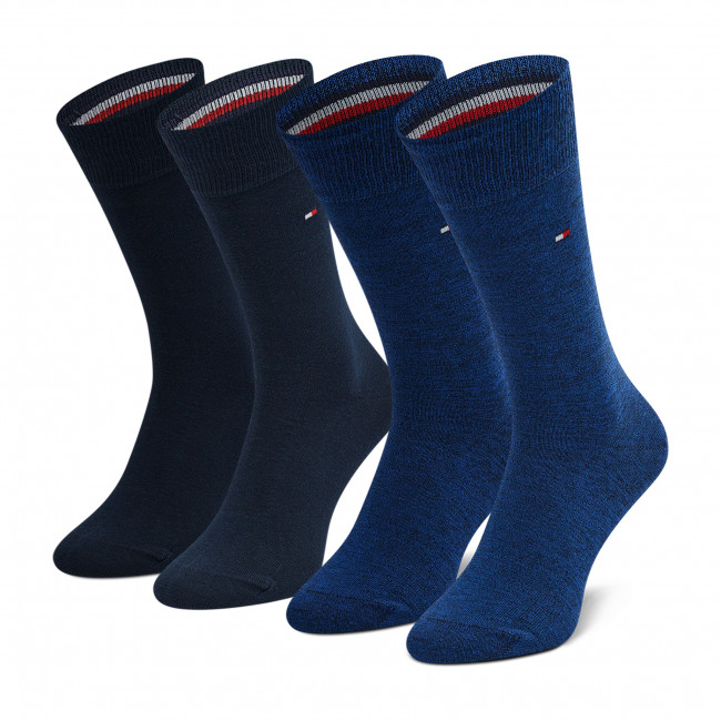 2 Pairs of Men's High Socks TOMMY HILFIGER - 371111 Navy 108