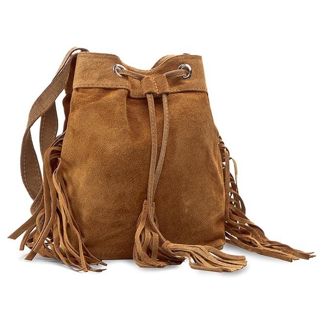 Handbag CREOLE - RBI10134 Brąz Zamsz
