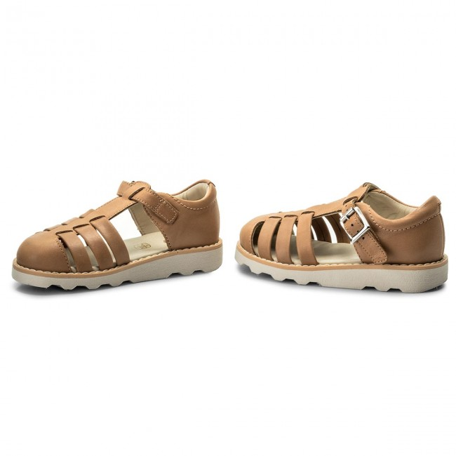 Sandals CLARKS Crown Stem 261334617 Tan Leather Sandals