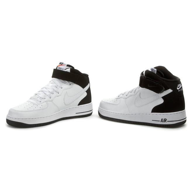 Nike Air Force 1 Mid White White Varsity Red 315123 113