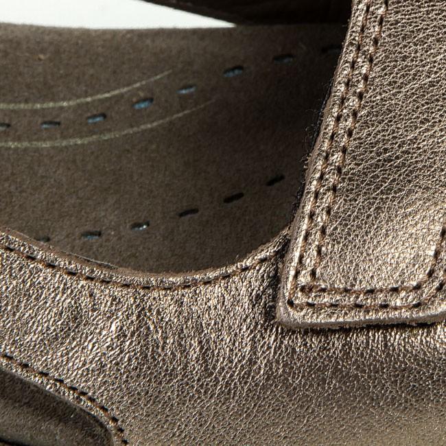 Sandals ECCO Babett Sandal 21402354893 Warm Grey Metallic