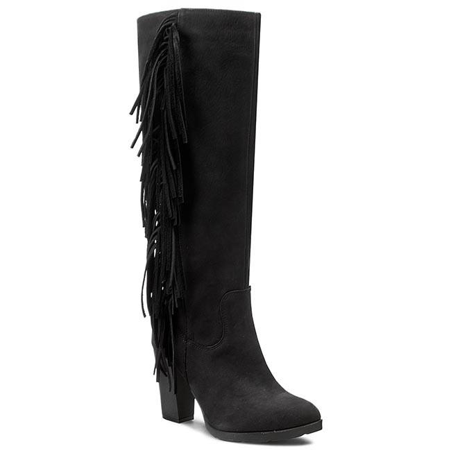 Knee High Boots A.J.F. - 1017 Czarny 405 Oc