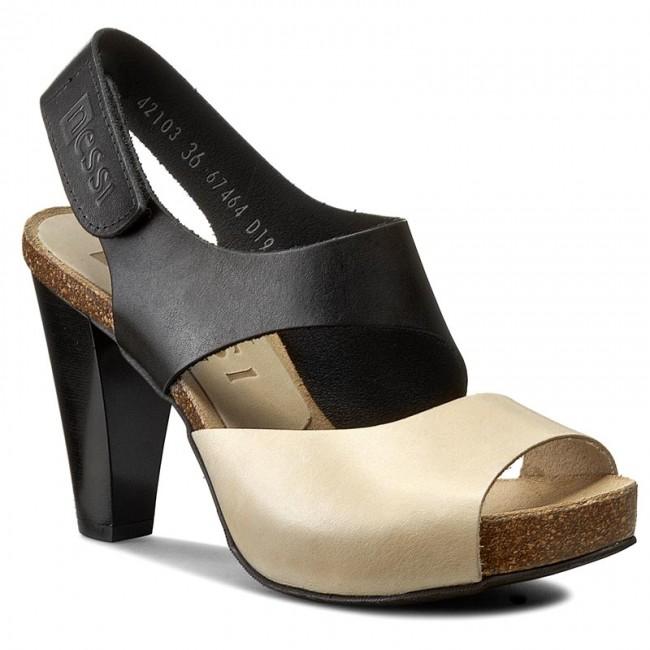 Sandals NESSI - 42103 Czarny 11/Beż
