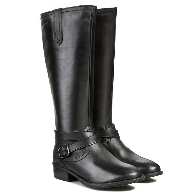 knee high boots tamaris 1 25623 21 black leather 003