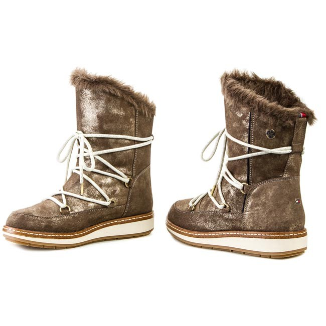 Snow Boots TOMMY HILFIGER - Wooli 3BW FW56817585 Gold 765