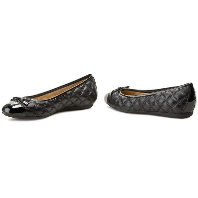 bienes de conveniencia bajo costo más cerca de Flats GEOX - D Lola L D24M4L 08566 C9999 Black - Ballerina shoes ...
