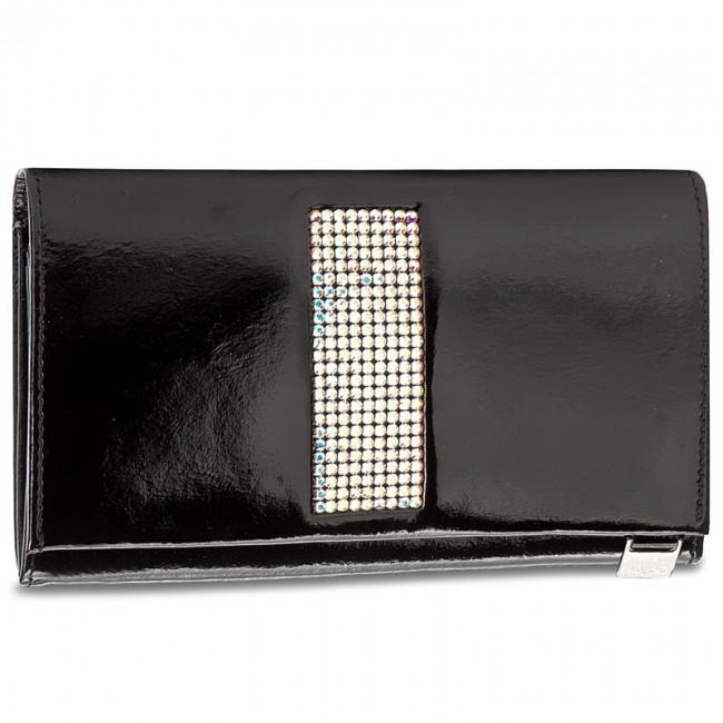 Large Women's Wallet GIOVANI - CV-340/140 (Swarovski Elements) Black