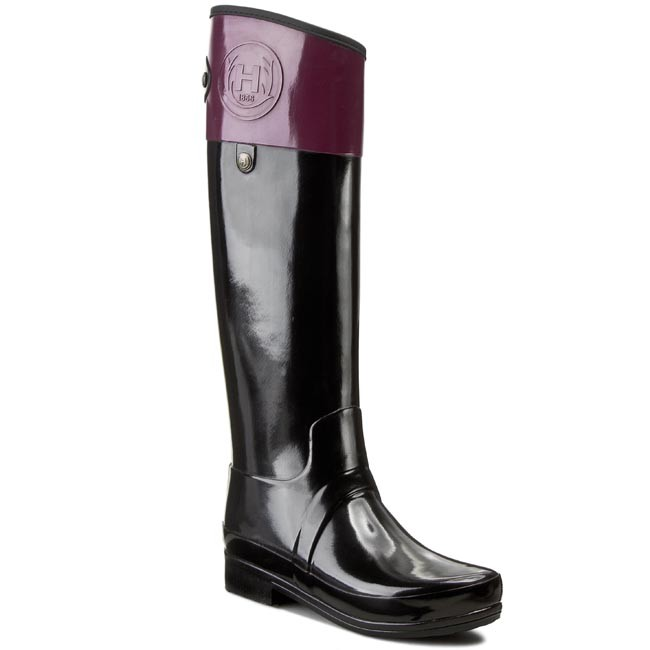 Wellingtons HUNTER - Sandhurst Caryle W25251 Black/Dark Ruby