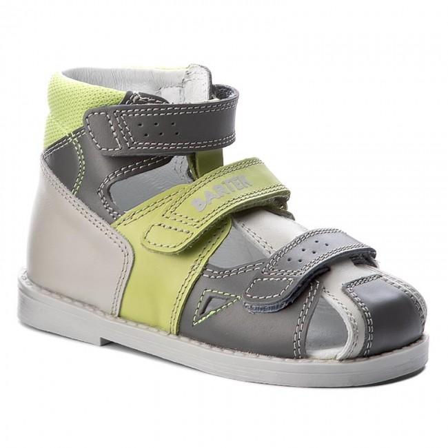Sandals BARTEK - 81792-8/831 Szaro Zielony