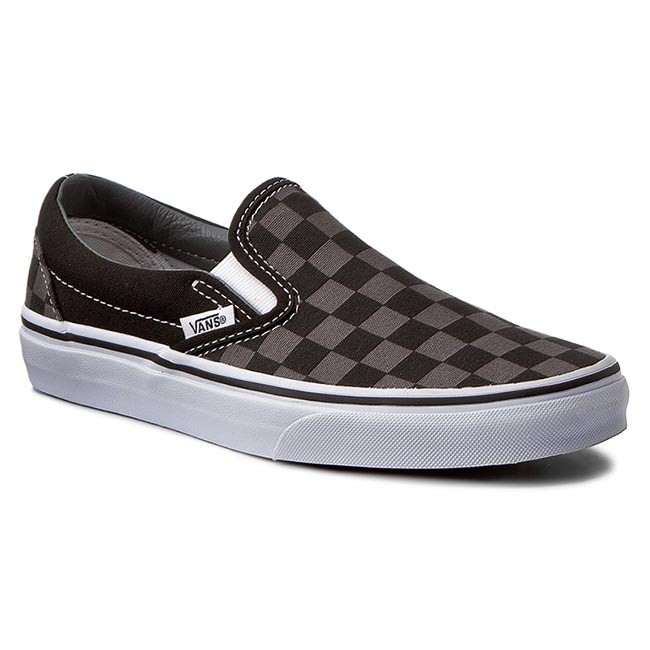 Plimsolls VANS - Classic Slip-On VN000EYEBPJ Black/Pewter Checkerboard