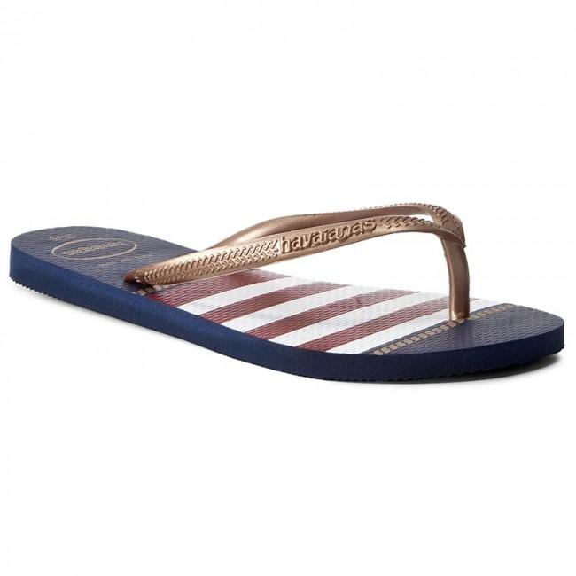 hot product classic fit buy good Slides HAVAIANAS - Sl Nautical 41371250555 Navy Blue - Flip-flops ...