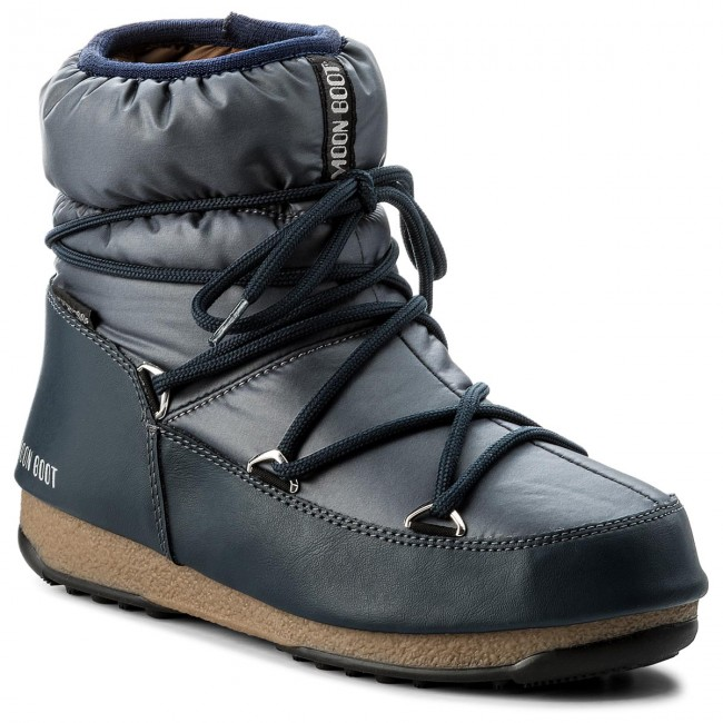 check out 54f00 69eee Snow Boots MOON BOOT - W.E. Low Nylon Wp 24006200006 Blue Denim