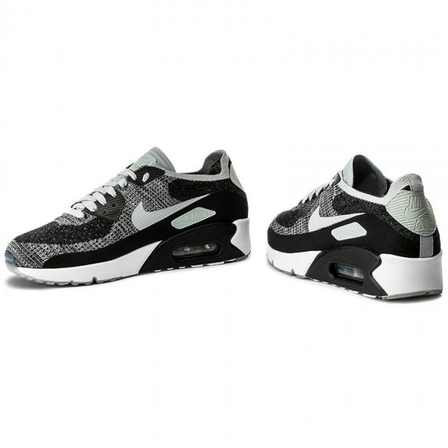 Shoes NIKE Air Max 90 Ultra 2.0 Flyknit 875943 005 BlackWolf GreyPure Platinum