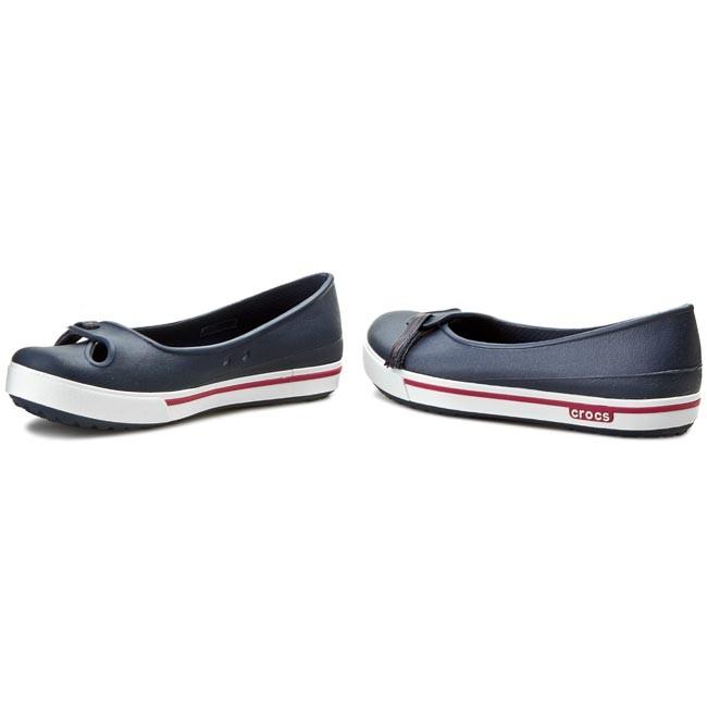 5c652c0eb31ece Flats CROCS - Crocband 2.5 Flat 12333 Navy/Raspberry - Ballerina ...