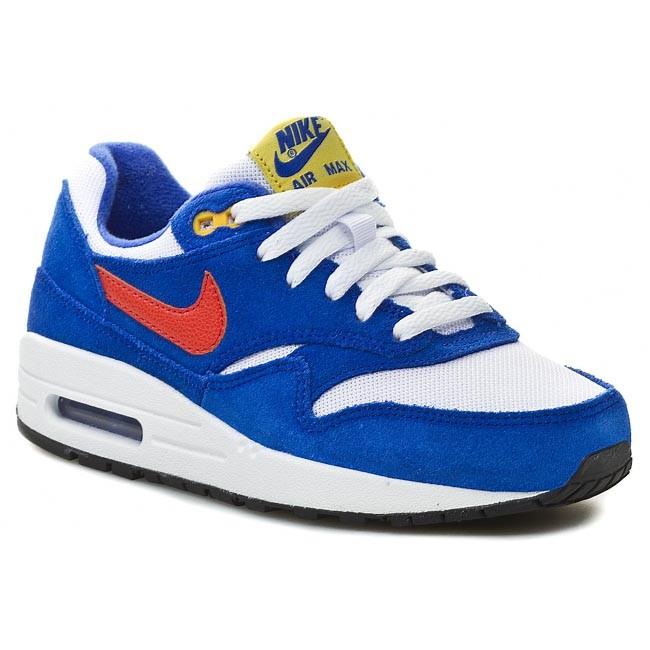 Personificación gradualmente Mirar  Shoes NIKE - Air Max 1 555766 108 White/ Tm Orange/ Hyper Cobalt - Laced  shoes - Low shoes - Boy - Kids' shoes | efootwear.eu