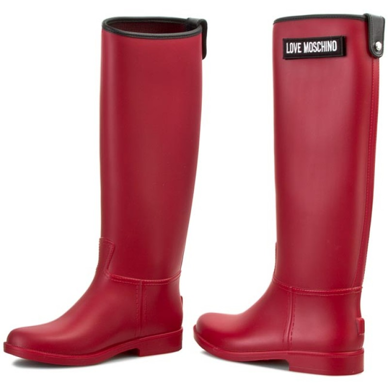 Love Moschino RAIN BOOT - Wellies - rosso qDyoM37A