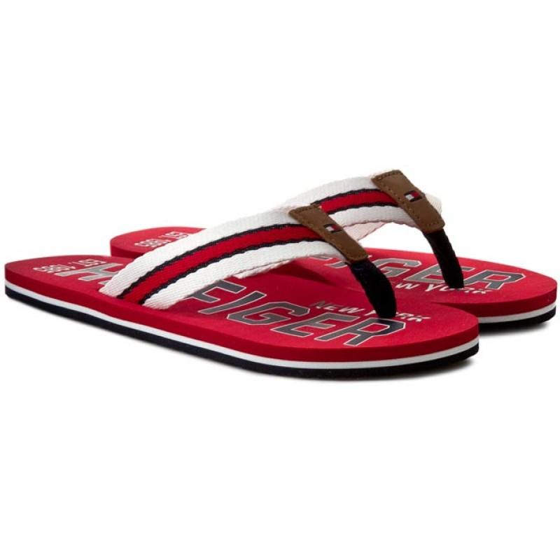 Zehentrenner TOMMY JEANS - Mens Beach Sandal EM0EM00065 Tango Red 611 HH4VhLMz