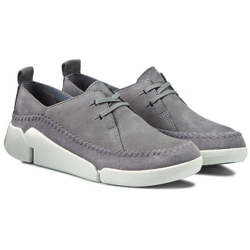 Shoes CLARKS - Tri Angel 261156404 Grey/Blue