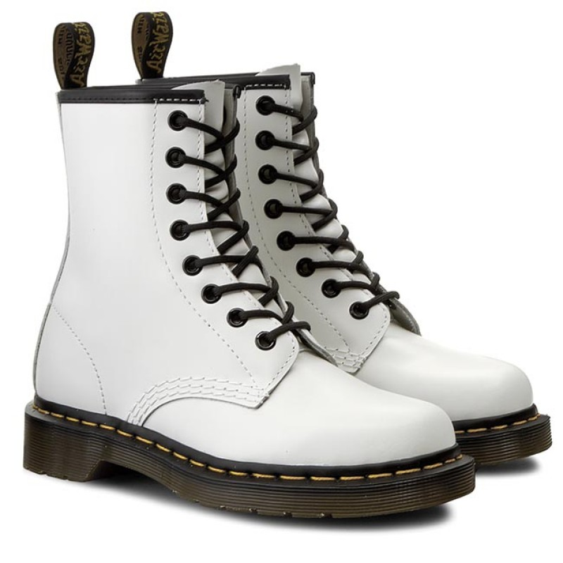 Dr. Martens 1460 White Smooth 10072100, Boots - 40 EU