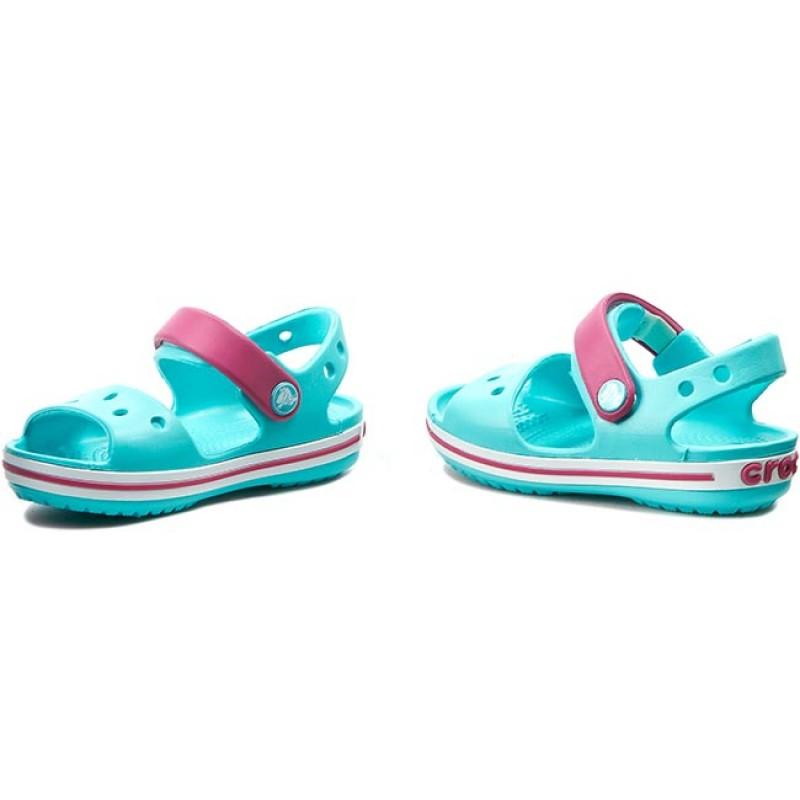 Sandalen CROCS - Crocband Sandal Kids 12856 Pool/Candy Pink YczHORwsai
