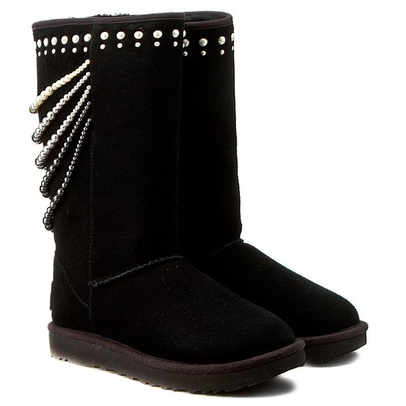 ugg calais swarovski pearl detailed suede boots
