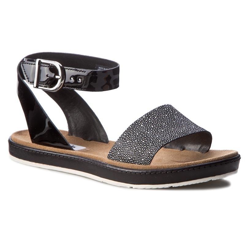 Sandals CLARKS - Romantic Moon 261241414 Black Combi Leather