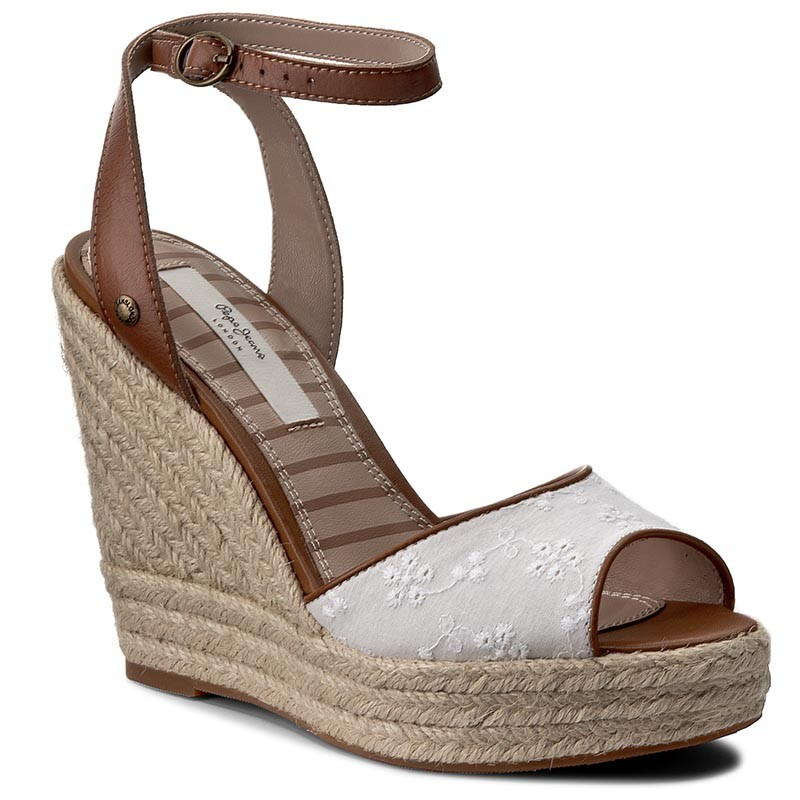 Espadrilles PEPE JEANS  Walker Anglaise 17 PLS90226 White 800  Espadrilles  Mules and sandals  Womens shoes       0000199042928