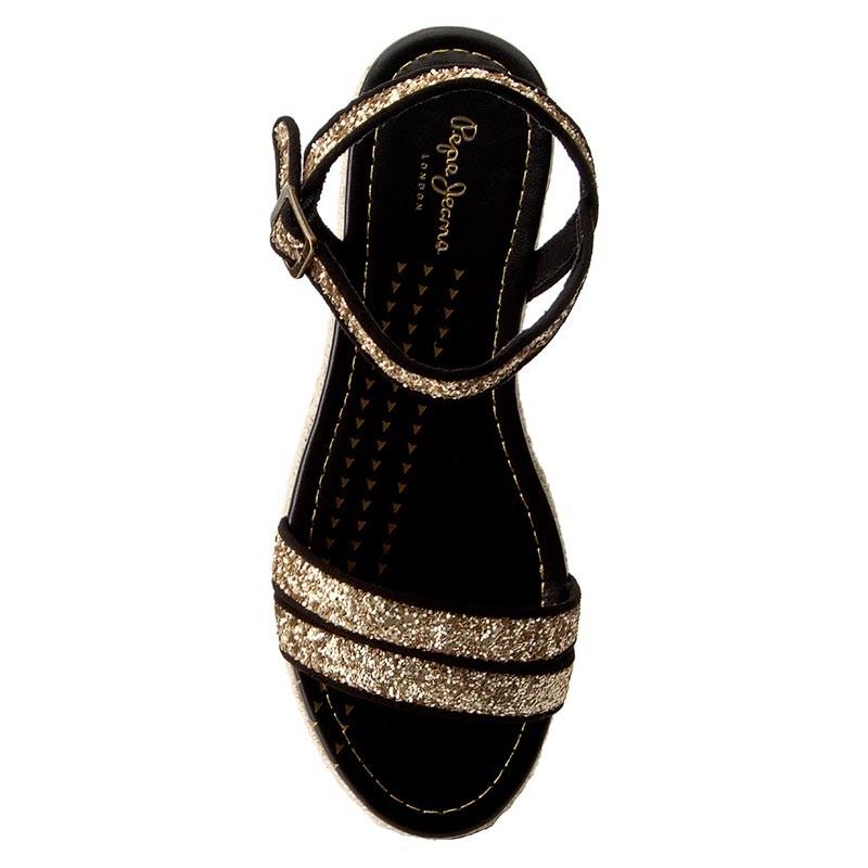 Espadrilles PEPE JEANS - Venize Glitter PLS90271 Gold 099 thobZ