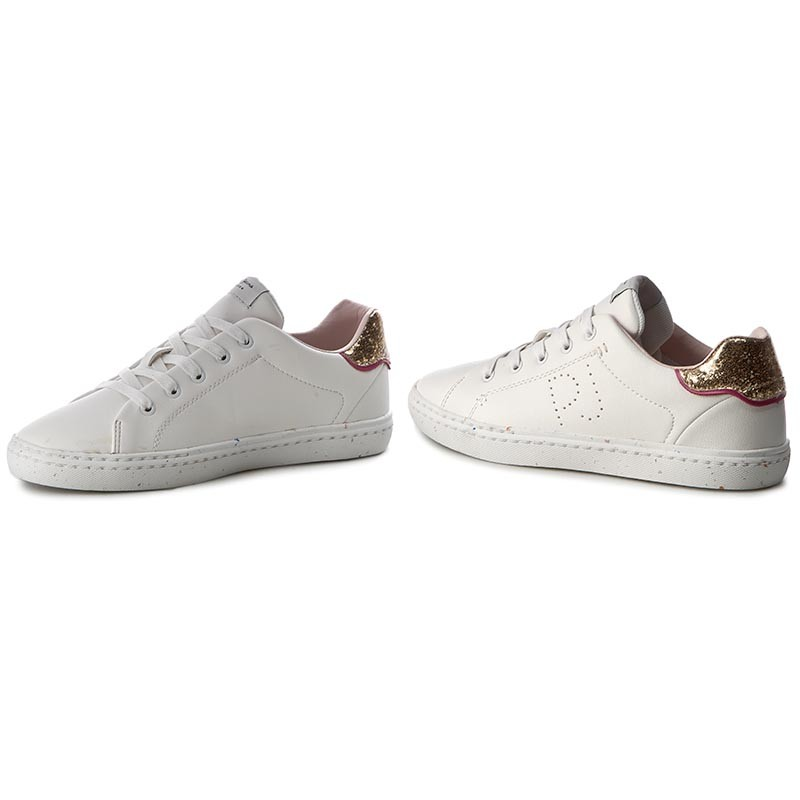 Sneakers PEPE JEANS - Halley Basic PGS30254 White 800 zhUckQcU