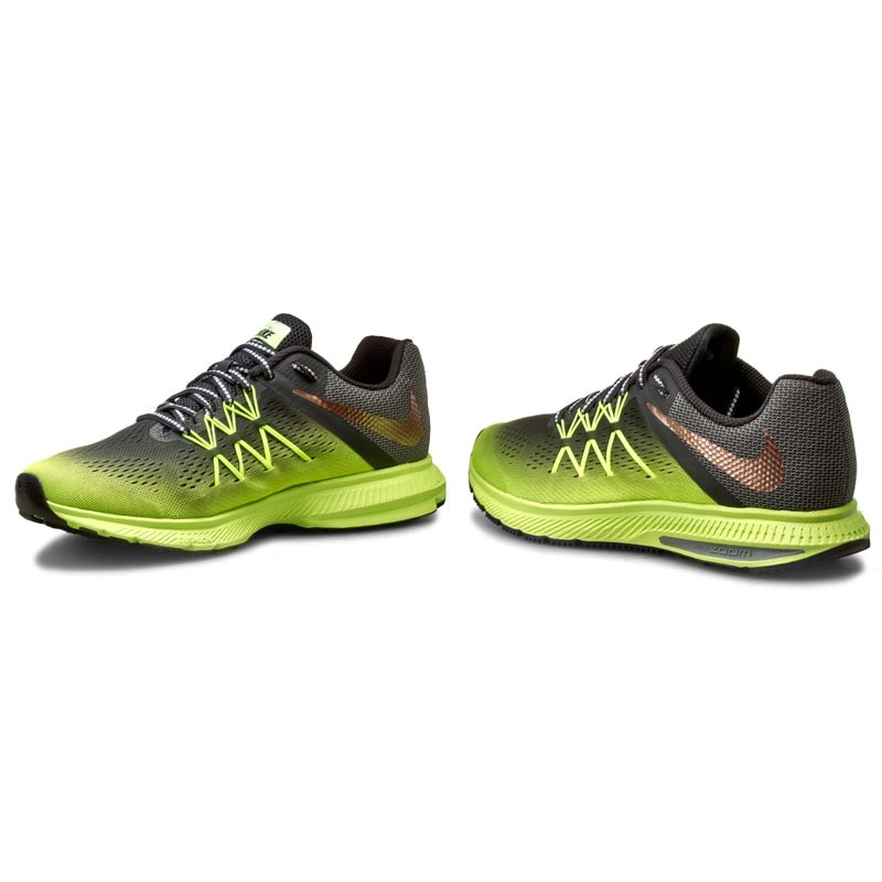 Shoes NIKE - Zoom Winflo 3 Shield 852441 700 Volt/Mtlc Red Bronze