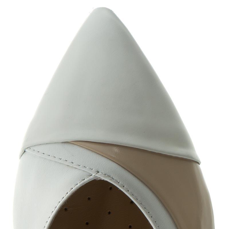 Ballerine GEOX - D Rhosyn C D620FC 038KF CA51Z Skin/White Venta De Ebay 18Pez