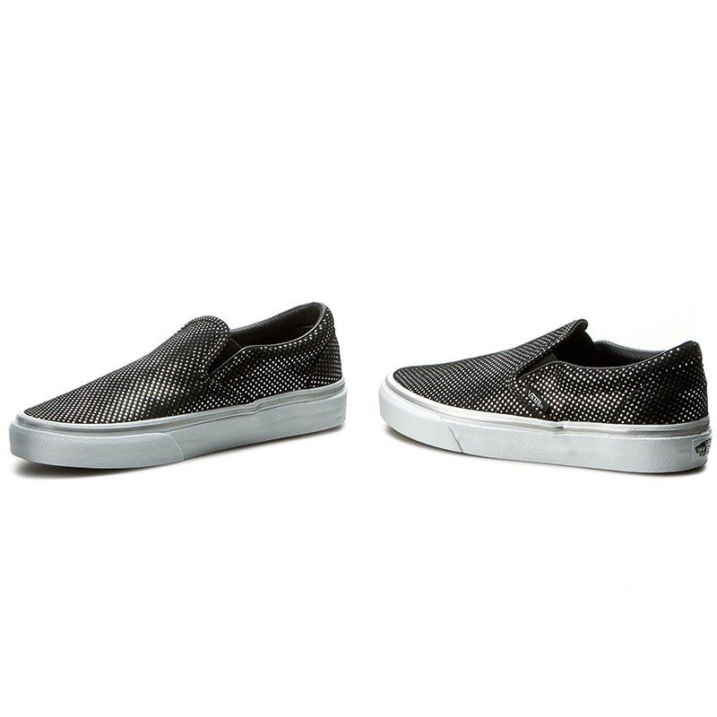 vans silver and black