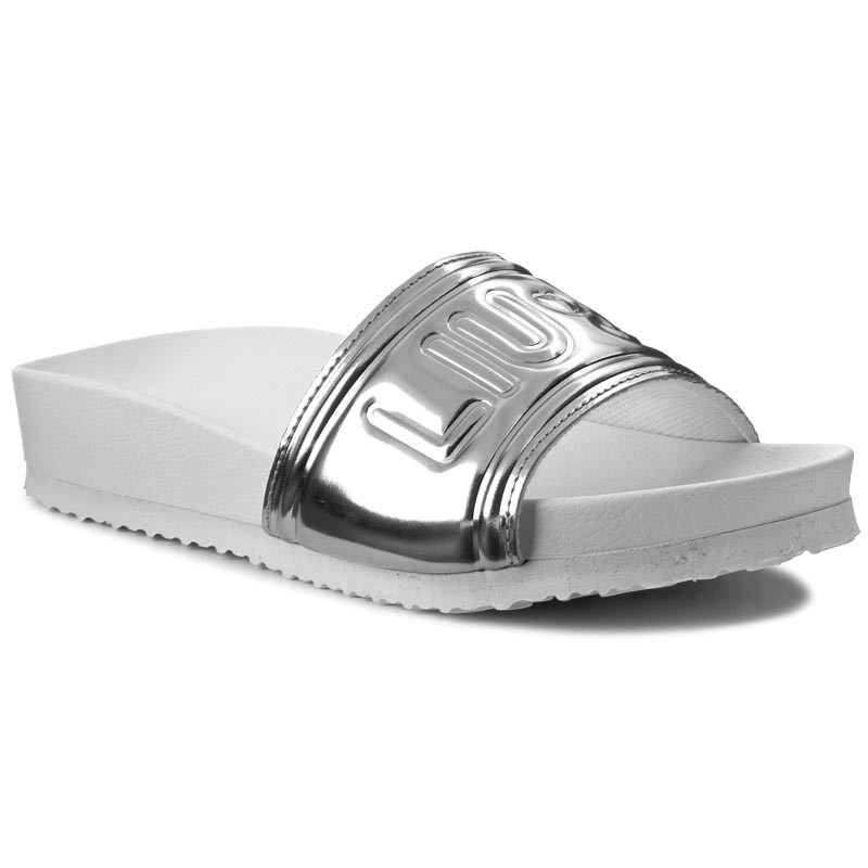 Slides LIU JO  Pool Slides Sandals S17045 E0380 Acciaio Met 04019  Casual mules  Mules  Mules and sandals  Womens shoes       0000199303616