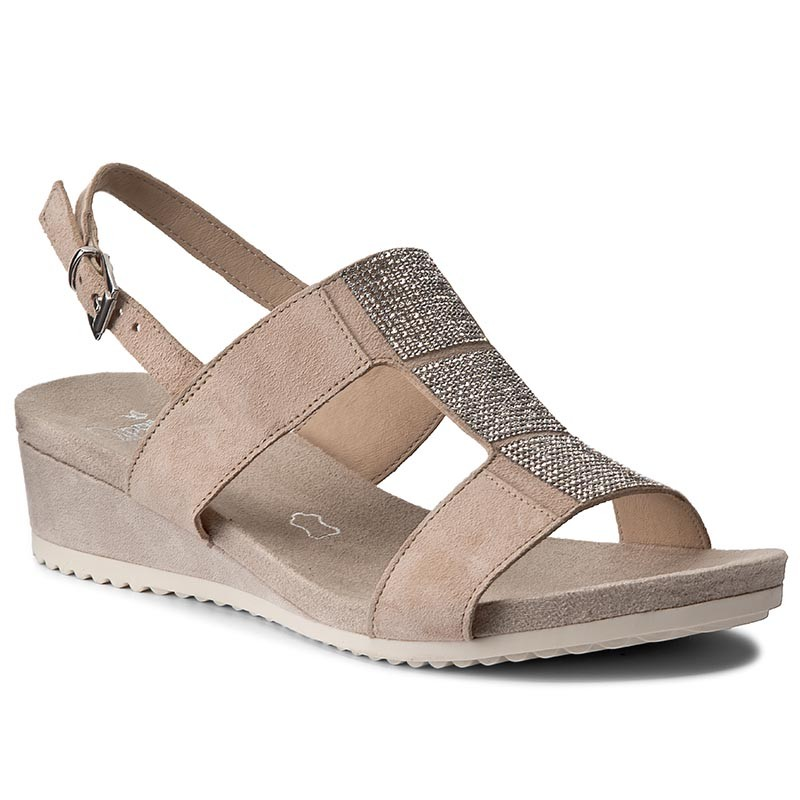 Sandals CAPRICE  92821028 Beige Suede 404  Casual sandals  Sandals  Mules and sandals  Womens shoes       0000199380846