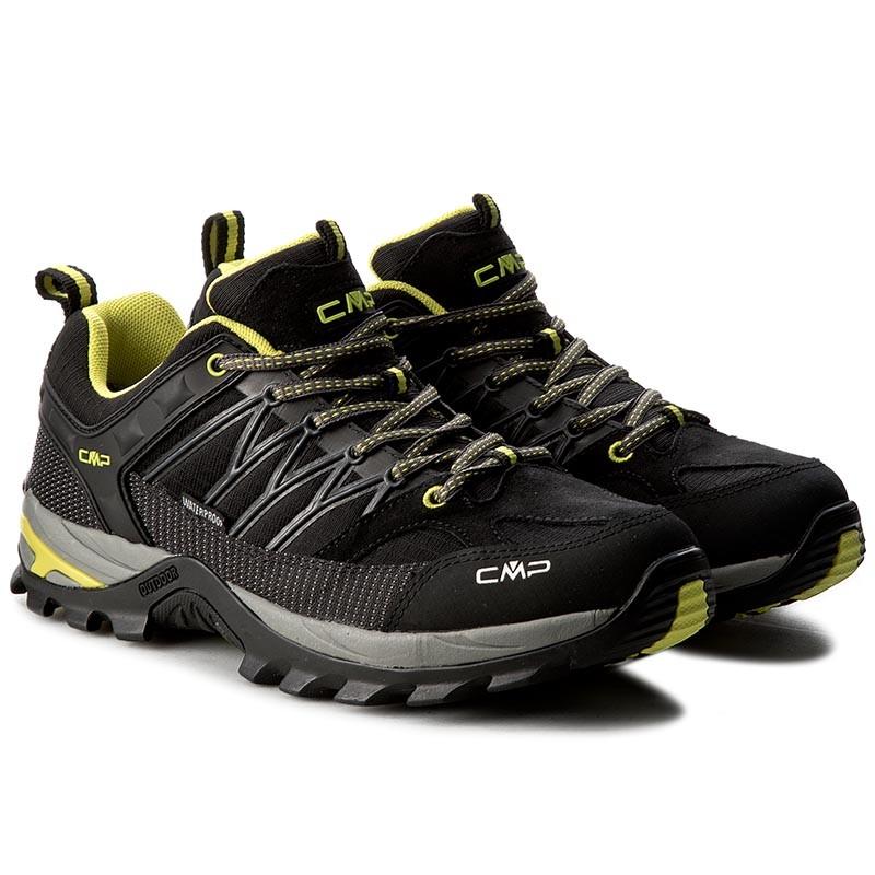 CMP RIGEL LOW SHOES WP - Hiking shoes - nero FefCw