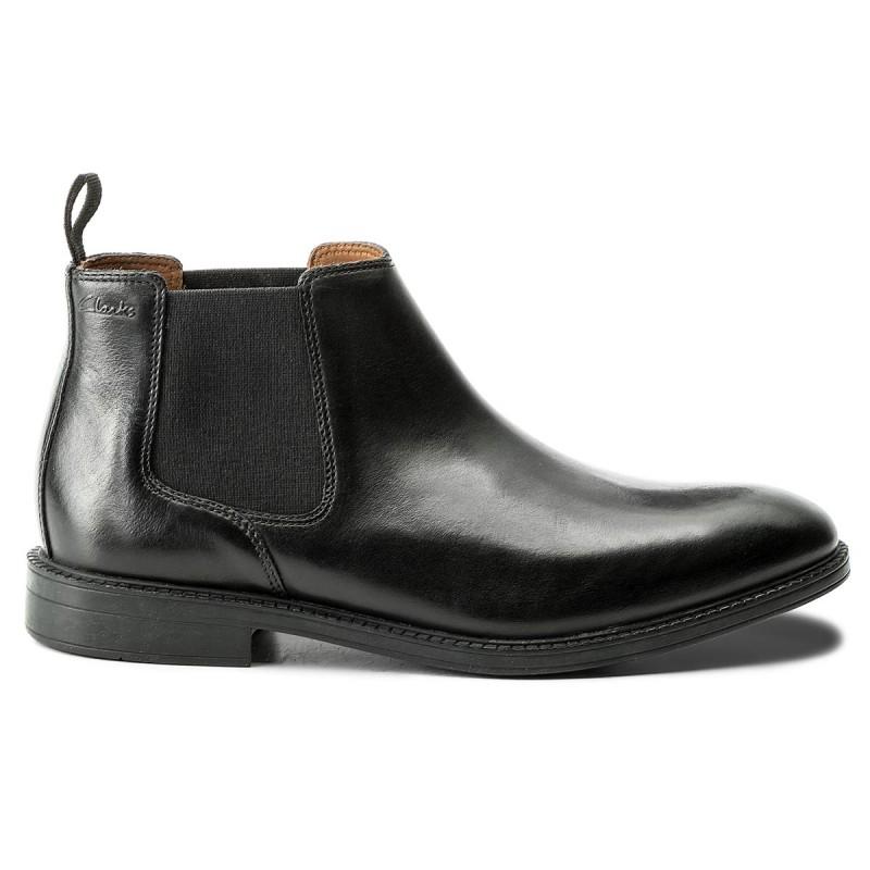 Chelsea CLARKS - Chilver Top 261109277 Black Leather Precio Barato Precio Al Por Mayor Aclaramiento Perfecta Auténtica Barato d6ZOcYsa