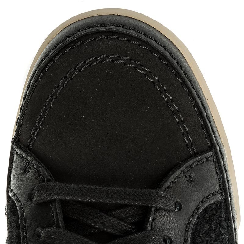 Sneakers CLARKS - Hidi Haze 261285524 Black Combi Leather Cómodo yPug16Lz