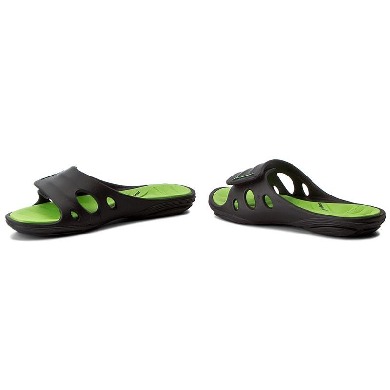 Slides RIDER  Key IX Fem 81906 BlackGreen  Casual mules  Mules  Mules and sandals  Womens shoes       0000199598142