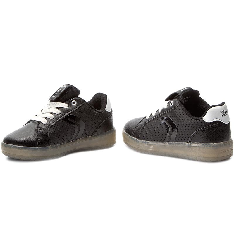 Basket Geox Enfant Kommodor Boy J745PB 0BCBU C0504 Black/White kSdGqRq