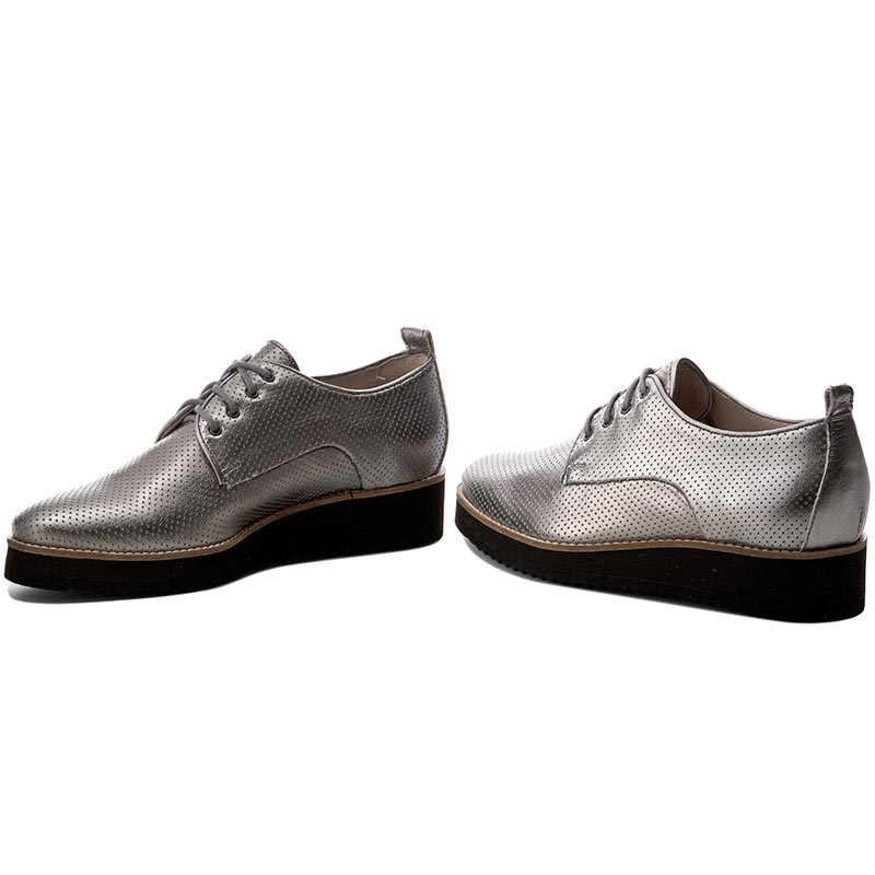 Oxfords Gino Rossi - Pia Dph359-V83-0028-0400-0 Silber 4HQn1Y