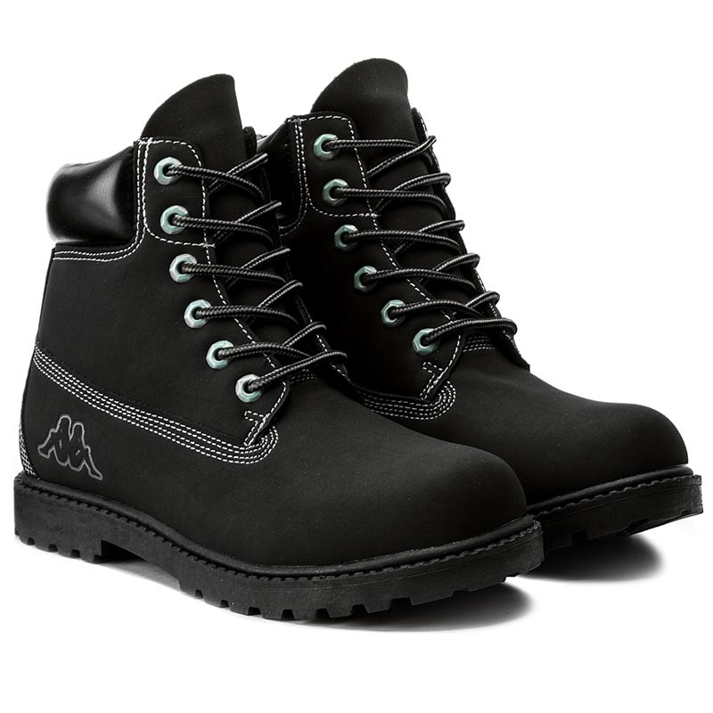 Kappa KOMBO - Walking boots - black/grey dkukaf1GI6
