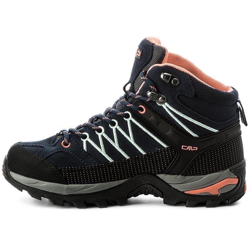 CMPRIGEL MID SHOES WP - Walking boots - blue/giada/peach eN566EdKW