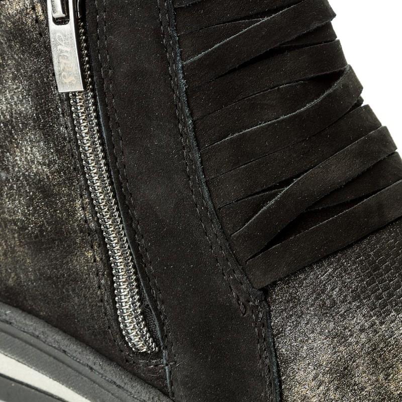 Sneakers WALDI - 0606 Czarny/Złoto Czarny Nubuk 2C7buAdow
