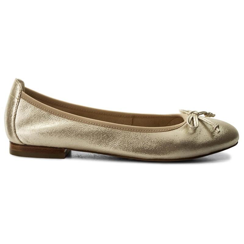 Flats CAPRICE - 9-22102-20 Beige Glitter 409