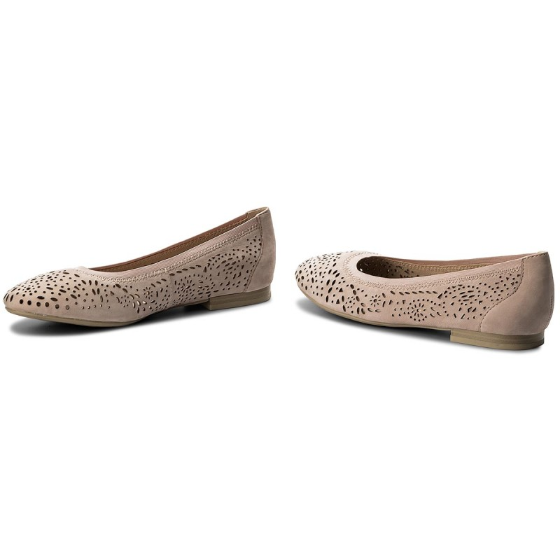 Flats CAPRICE - 9-22104-20 Rose Nubuc 509