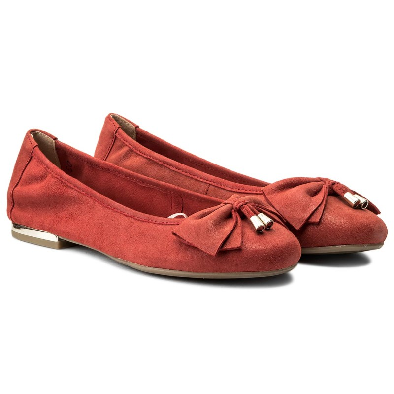 Flats CAPRICE - 9-22111-20 Red Pearl 510