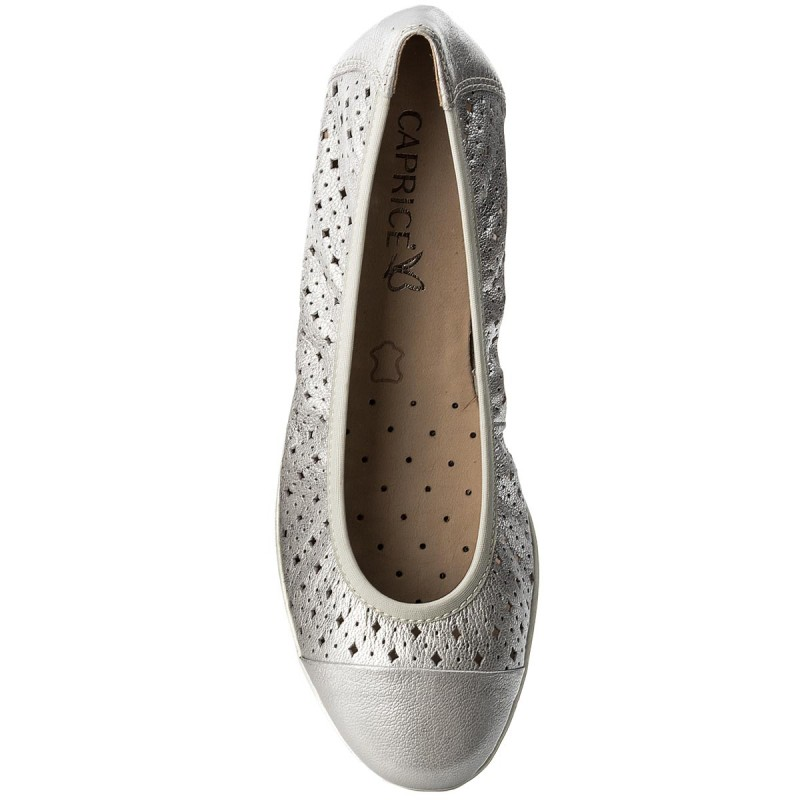 Ballerinas CAPRICE - 9-22151-20 Silver Metal 920 nTC6F0