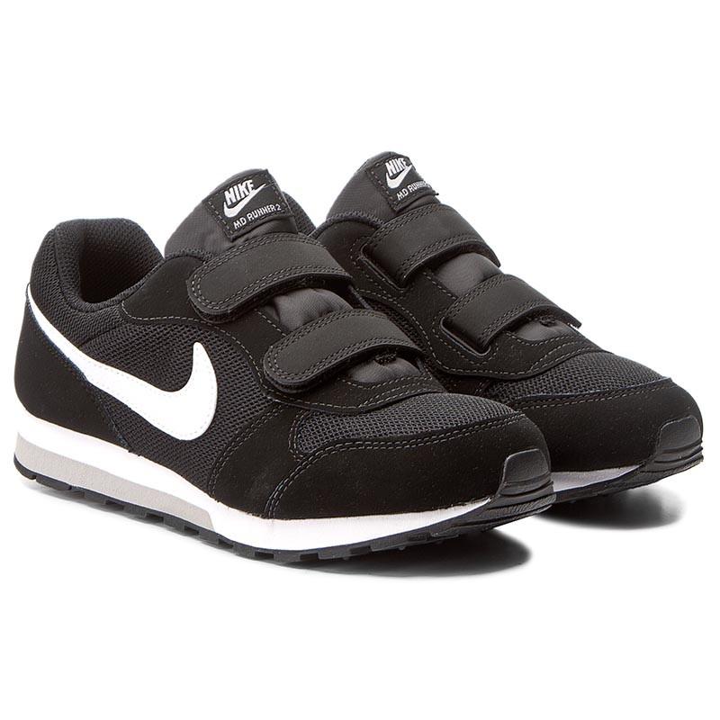 Shoes NIKE - Md Runner 2 (PSV) 807317 001 Black/White Wolf Grey